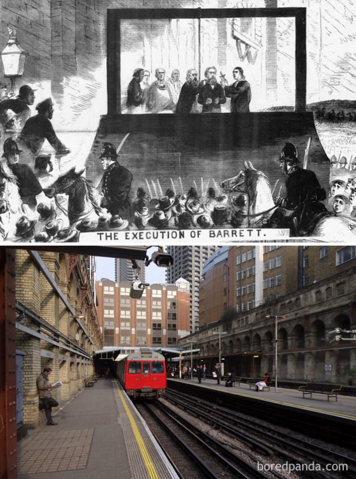 You Could Take The London Underground To The Last Public Hanging In The UK (1868)