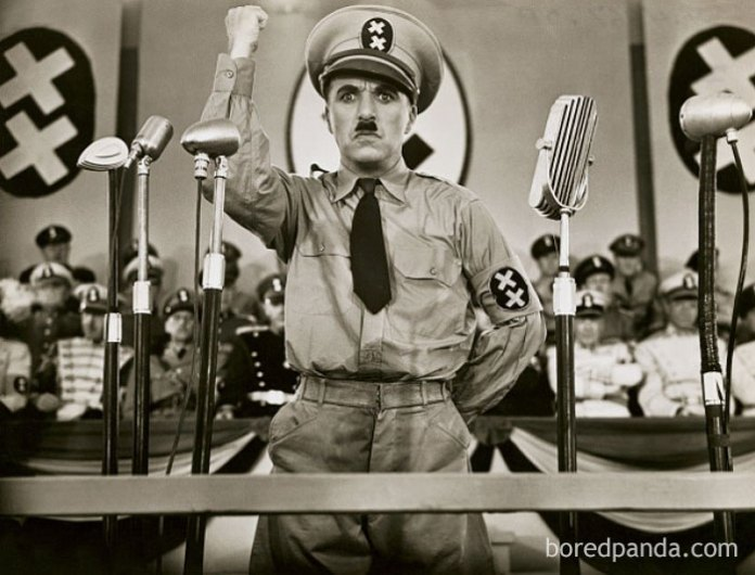 """Charlie Chaplin And Adolf Hitler Were Both Born In 1889. Interestingly, Chaplin Portrayed Hitler In The 1940 Satire """"The Great Dictator"""""""