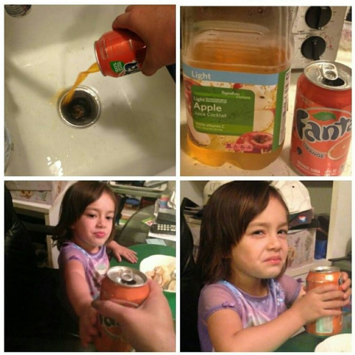 fanta vs apple juice ft girl