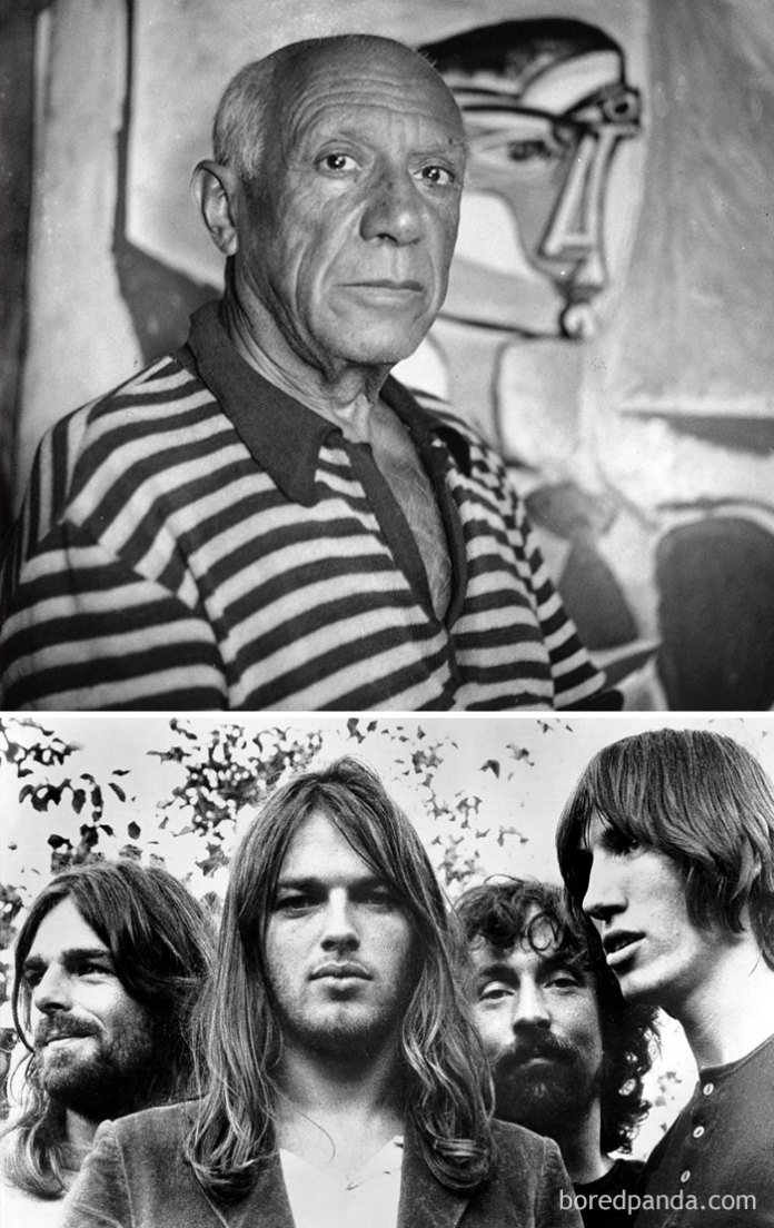 """Artist Pablo Picasso Died In 1973, The Same Year Pink Floyd's """"Dark Side Of The Moon"""" Was Released"""