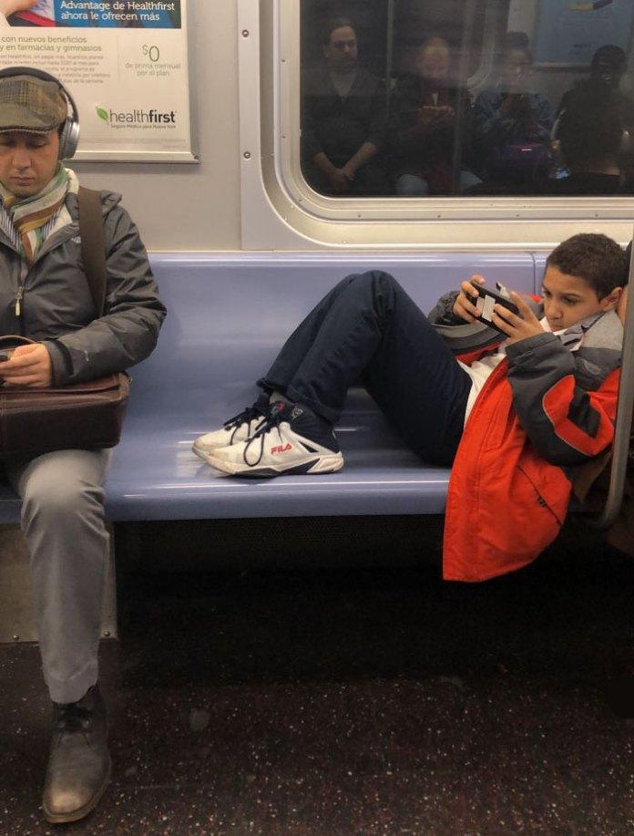 kid in subway
