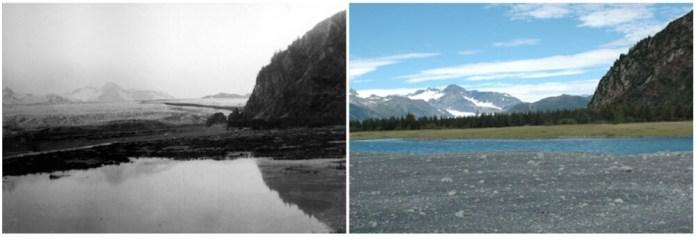 Bear Glacier, Alaska. July 1909- August 2005