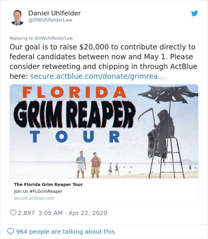 Grim Reaper to be spotted in Florida beaches