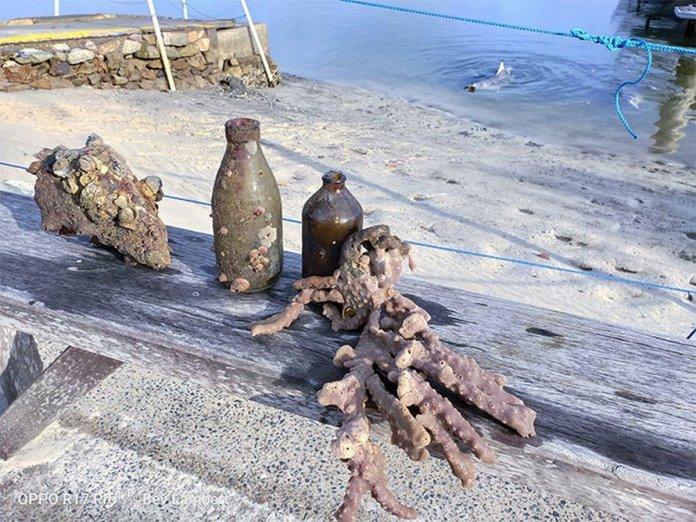 Mystique bringing stuff from ocean