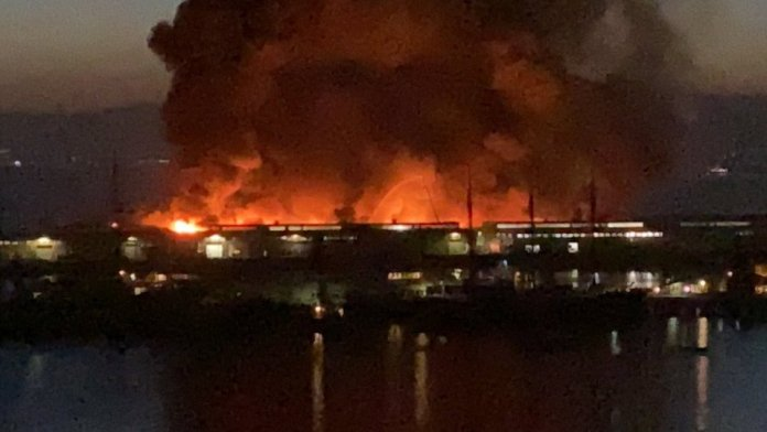 fires at pier 45