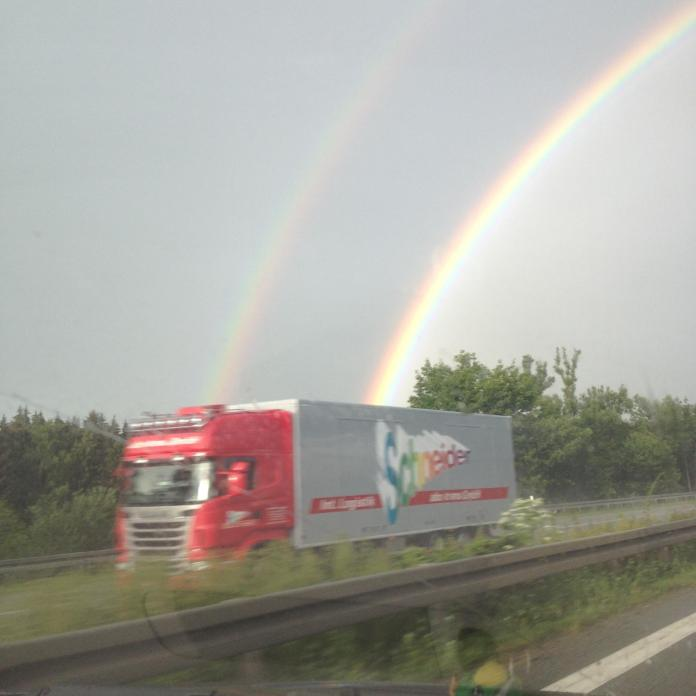 Rainbows Out Of A Rainbow Truck.