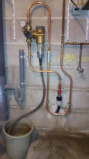 système antitartre sue arrivée générale d'eau froide