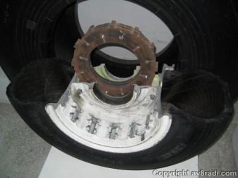 Cross section of a landing gear wheel