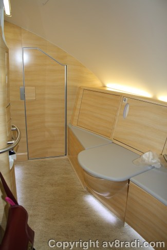 On board showers for the First Class Passengers