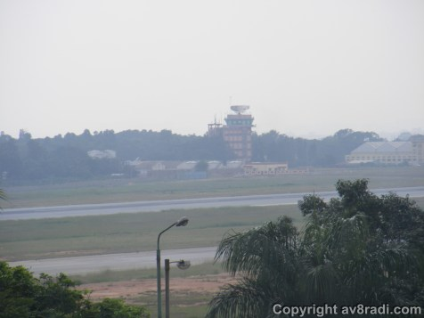 View of HAL airport's ATC from the museum