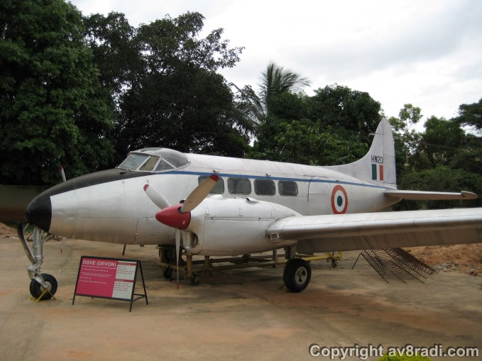 the Devon on display at HAL Aerospace Museum, Bangalore