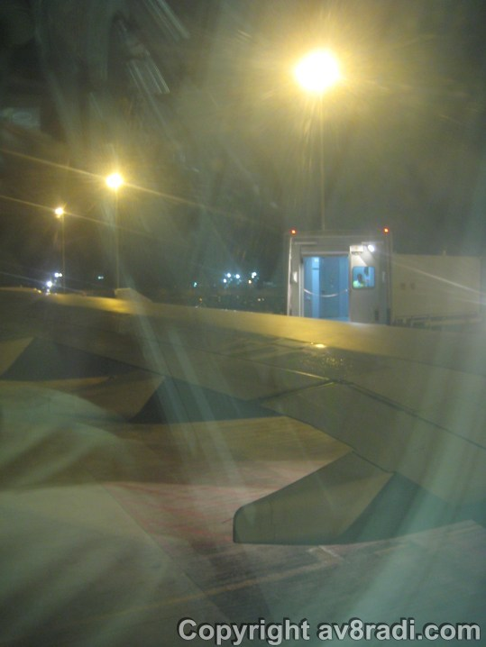 Pushback – Notice the Jetway