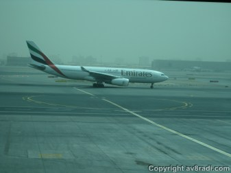 An Emirates (EK) A330 Taxing