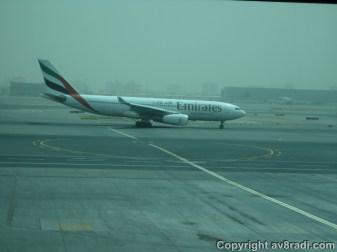 An Emirates (EK) A330 Taxing