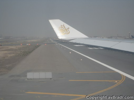 Entering the runway
