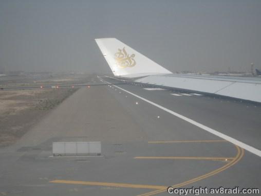 Entering the runway