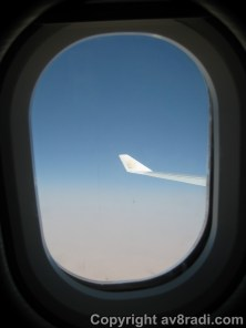My window ….approaching initial cruising altitude
