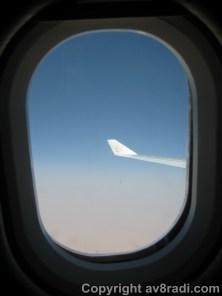 My window ….approaching initial cruising altitude