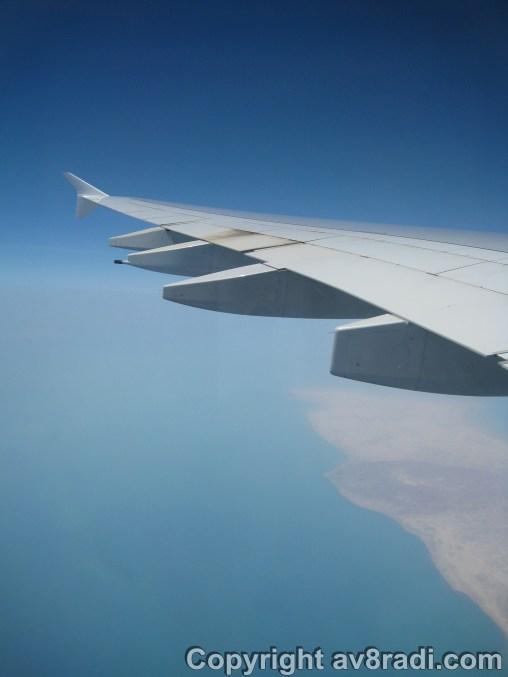 …towards the coast of Iran
