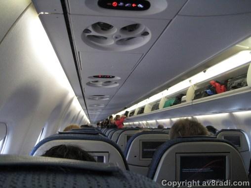 Regional flights don't have mood lighting