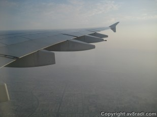 Flying parallel to DXB (hazy day)
