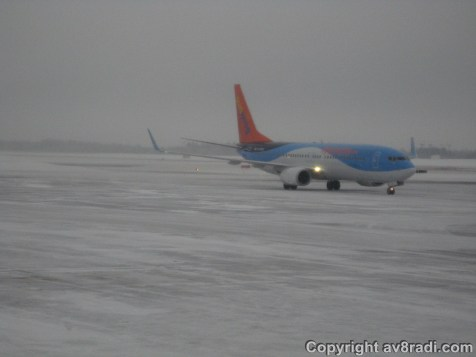 Another Sunwing's Boeing 737 (prolly leased from a British airline part of the TUI group)