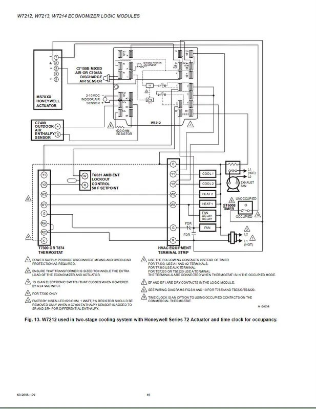 Working With the Honeywell W7212 Economizer Controller