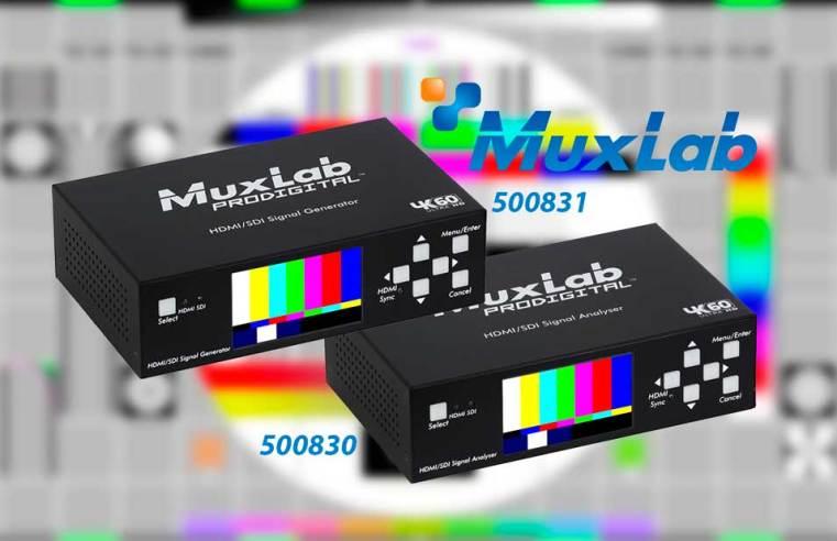 Muxlab 500830 y 500831. Diagnóstico profesional de SDI y HDMI