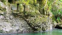 magnifique mur basaltique