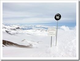 black ski slope