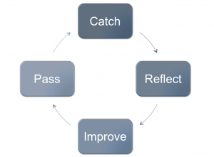 Catch, Reflect, Improve, Pass cycle