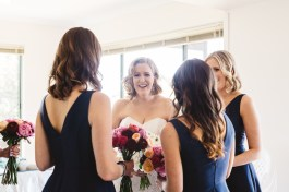 bridal hair and makeup at Philip Island in Victoria