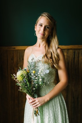 boho bridesmaid hair and makeup at gum gully farm in Melbourne