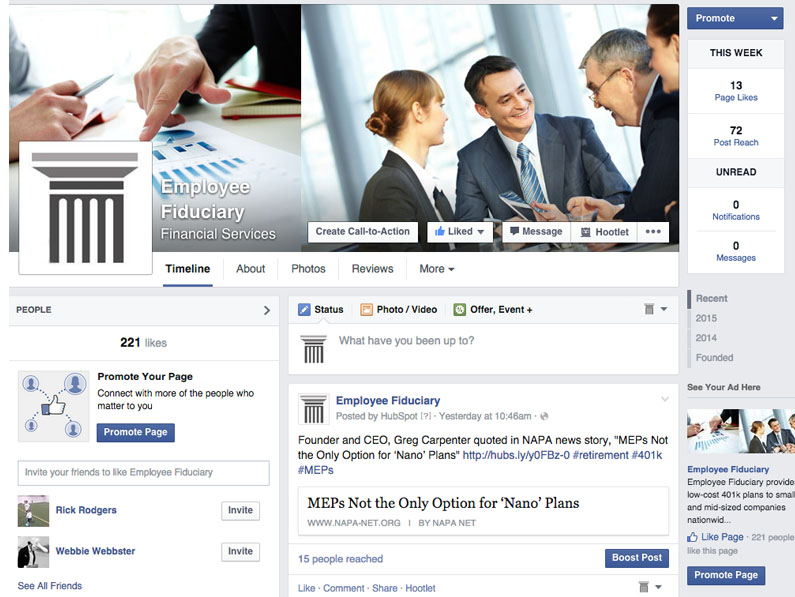 Employee Fiduciary Facebook