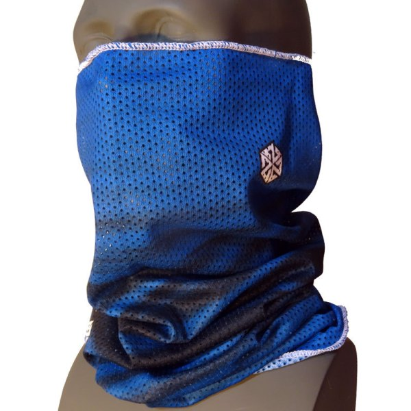 AVALON7 Mesh Necktube blue snowboaridng facemask