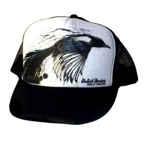 AVALON7 Magpie Trucker Hat by Kelly Halpin