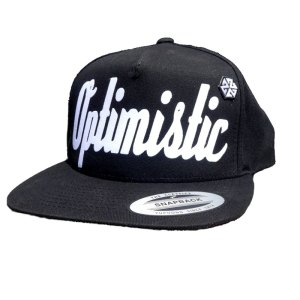 OPTIMISTIC BLACK SNAPBACK HAT BY AVALON7