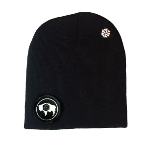 AVALON7 Wyoming Bison Winter Beanie black