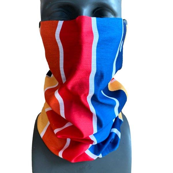 avalon7 retro color stripe snowboard necktube face mask