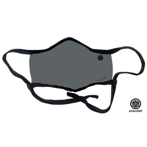 avalon7 grey social distancing facemask with adjustable earloops