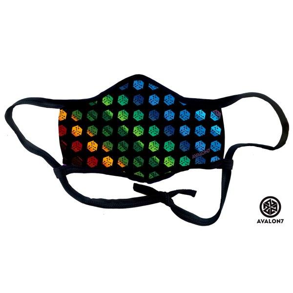 AVALON7 rainbow colors face mask covid 19