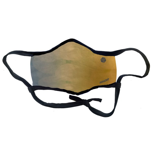 Golden Light social distancing face mask with adjustable ear loops and 3 layers of fabric
