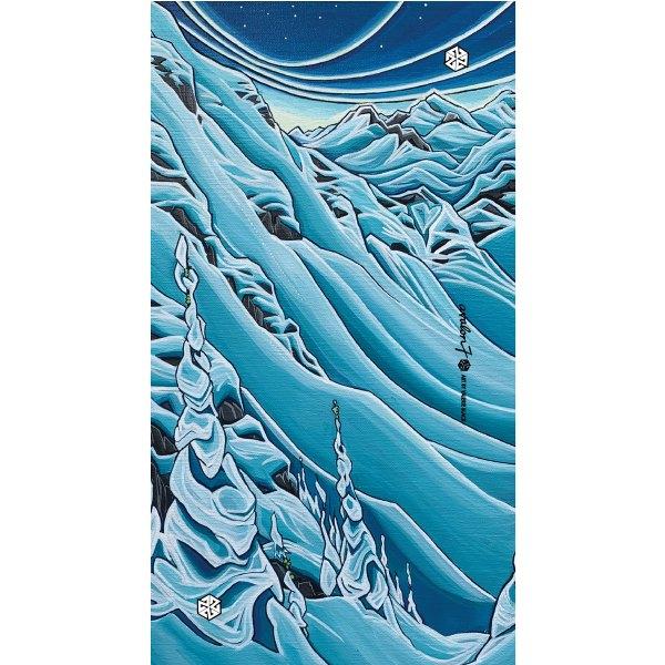 avalon7 snowboarding and skiing winter neck gaiter by Valerie Black Art