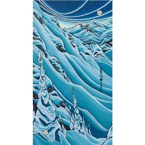 avalon7 snowboarding and skiing winter neck gaiter by Valerie Black Art