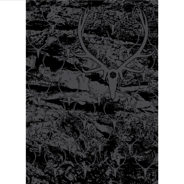 Avalon7 Elk Skull Camo Black and Grey Stormfleece Neck Gaiter face mask for snowboarding and skiing