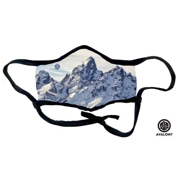 Avalon7 Valiant Teton social distancing adjustable face mask with earloops and 3 layers to protect from virus and smoke