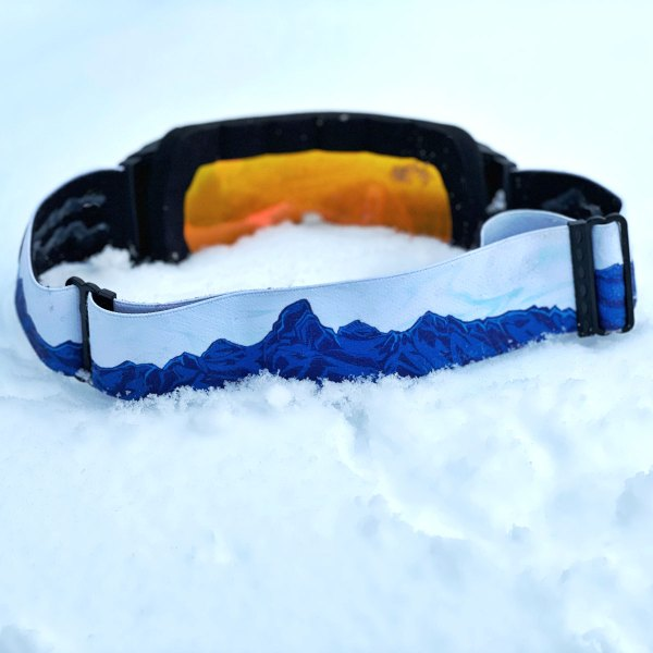 Avalon7 A7 magnetic snowboarding skiing goggles with artistic straps by Valerie Black