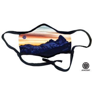 Teton Valley Sunset Social Distancing face mask 3 layer protection