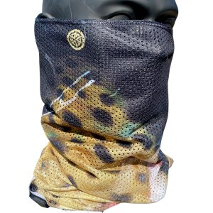 avalon7 Mesh neck tube facemask with brown trout design