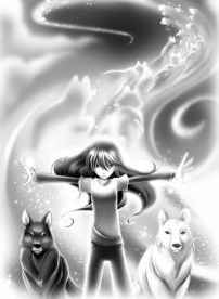 Adriane and her wolves
